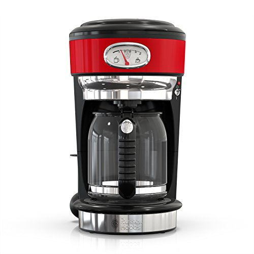 Russell Hobbs Retro Style 8-Cup Coffeemaker, Red & Stainless Steel, CM3100RDR