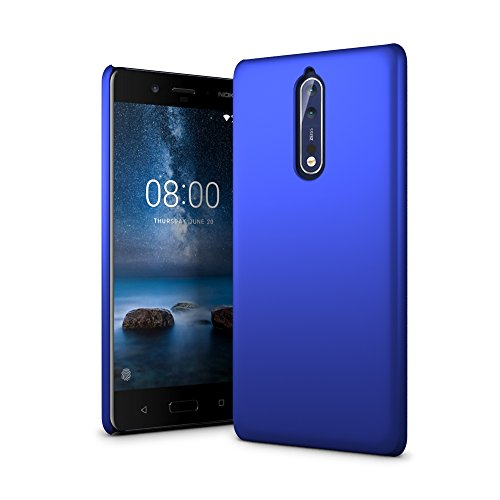 Nokia 8 Case - SLEO Rubberized Hard PC Back Case...