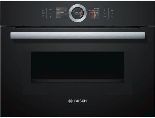 Bosch serie 8 - Horno compacto con microondas cmg6764b1 negro ...