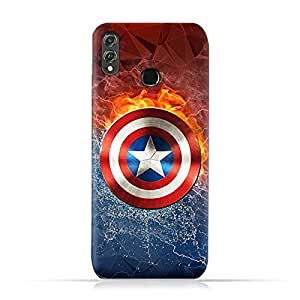 Huawei Honor 8X TPU Silicone Protective Case with Shield of Captain America Design
