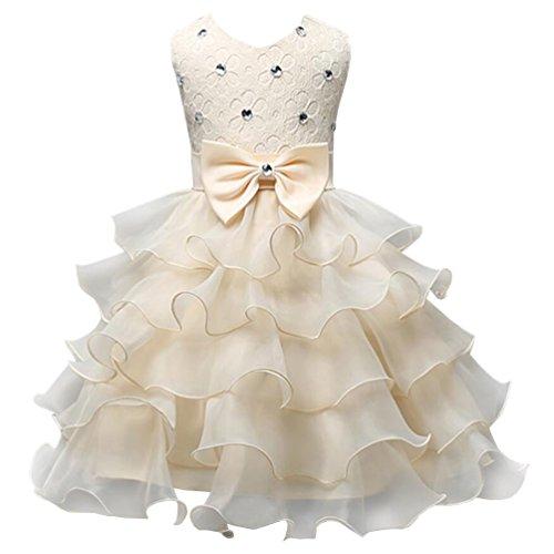Csbks Girls Wedding Party Dress Pageant Baby Ruffles