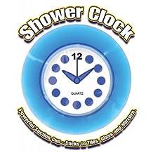 Blue Translucent Shower Clock