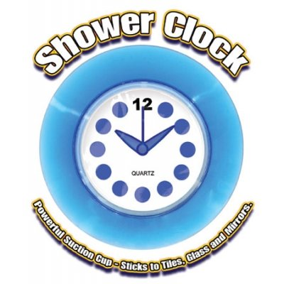 Blue Translucent Shower Clock by DZ