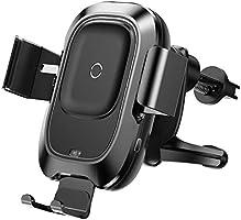 Kabelloses Handy Autoladegerät, Baseus 10W Qi Schnellladung, Automatisches Spannen, Handyhalterung für Lüftung Kompatibel...