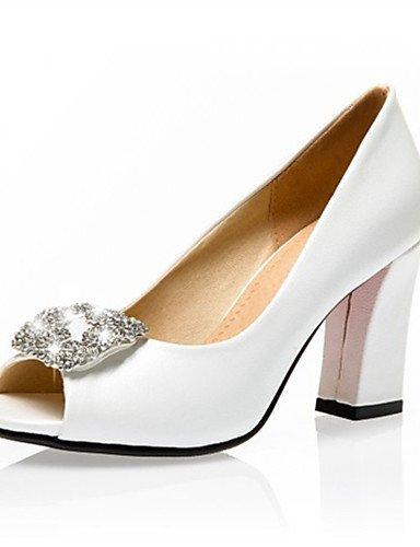 LFNLYX Zapatos de mujer-Tacón Robusto-Tacones / Punta Abierta-Sandalias-Boda / Vestido / Fiesta y Noche-Materiales Personalizados-Azul / Rosa / Blue