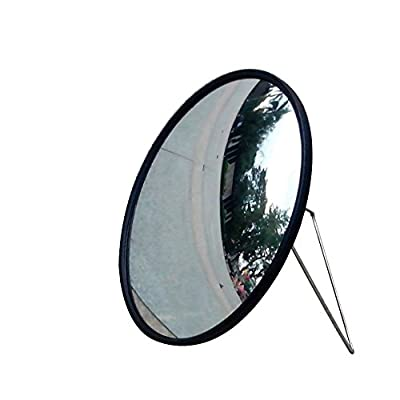 """12"""" Golf Mirror, Convex Mirror, Swing Trainer, Practice Mirror,unbreakable Acrylic Mirror, Stainless Stand, Adjustable Angle"""