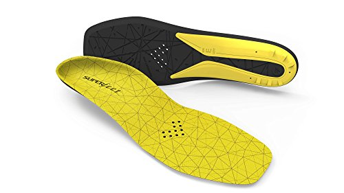 Superfeet Hockey Comfort Insoles for Orthotic Support and Cushion in Casual Hockey Skates, Unisex, Yellow, Medium D: Skate 7-8, US