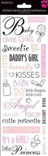 Sandylion Beginnings-Baby Girl Girl Girl Word Sticker, 4-Inch by 12-Inch, Clear by Sandylion B00NZFTES6 | Berühmter Laden  e7c51c