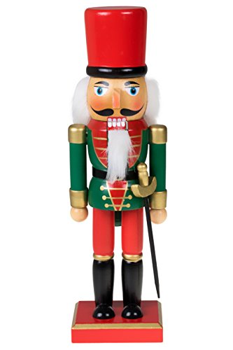 (Clever Creations Traditional Christmas Green and Red Soldier Nutcracker | Soldier Outfit with Sword | Festive Christmas Decor | 10