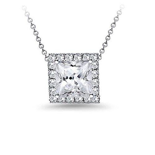 diamond pendant cut princess diamonds certified chain and