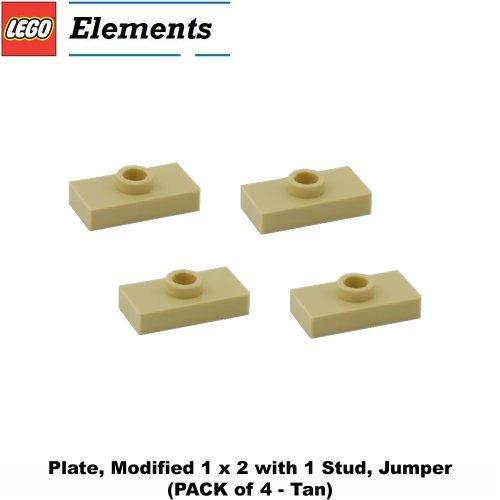 lego-parts-plate-modified-1-x-2-with-1-stud-jumper-pack-of-4-tan