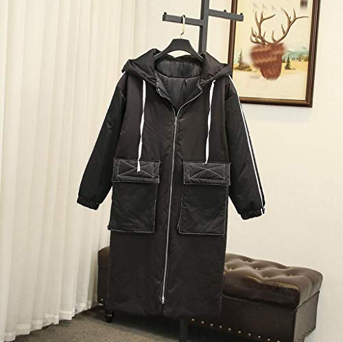 De Negro Puffer Con color Capucha Abrigo Tamaño Parka Para Jbhurf Mujer Cálido Invierno Chaqueta Xl Larga H5waOq