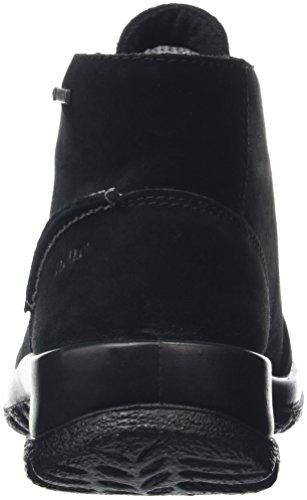 Derby schwarz De Schwarz Mujer Legero Softboot Para Halb 00 Zapatos Cordones qa8zXHw
