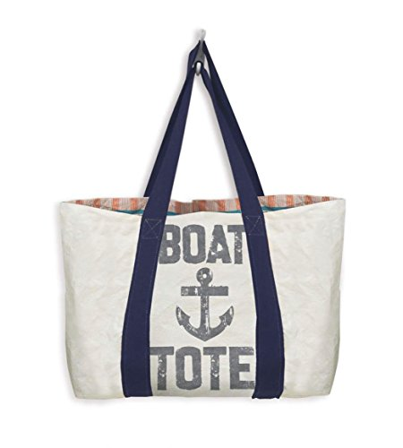 Mixt Studio Reversible Travel Tote (Boat Tote-Navy Handle) (Bag Vessel)