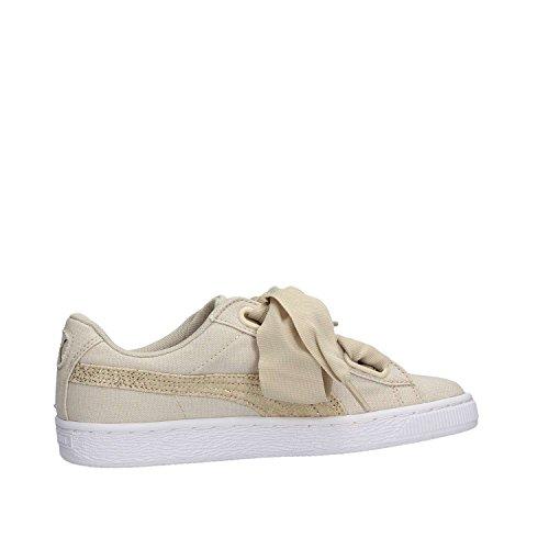 Silver Puma Basket Celeste 03 Canvas Wn's Sneakers Heart 366495 Beige Bianco 0rxqd0p