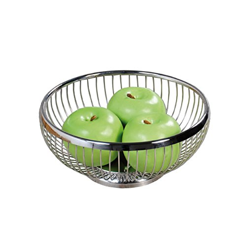 Kesper 90843 Bread and fruit basket of stainless steel, Silver