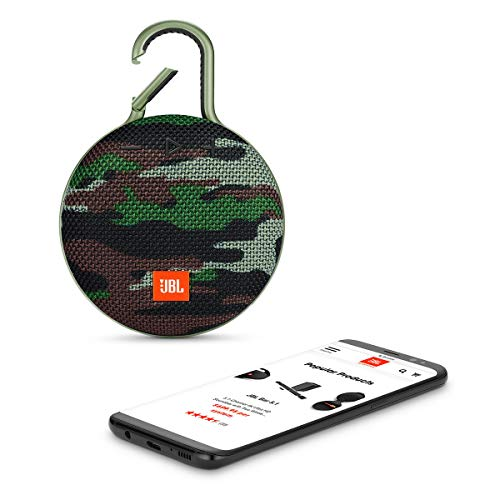 JBL Clip 3 Portable Waterproof Wireless Bluetooth Speaker - Camo (Renewed)