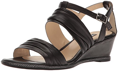 ECCO Women's Women's Rivas 45 Ii Wedge Sandal, Black, 37 EU/6-6.5 M US
