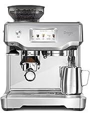 Sage Appliances SES880 the Barista Touch, Espresso machine, Brushed Stainless Steel, handmatig aanstampen, automatisch melkschuim