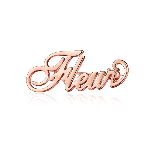 MANZHEN Personalized Custom Name Brooch Pin Customized Jewelry 3 Colors Brooches for Women (Rose ()