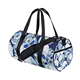 Skull Yoga Sports Gym Duffle Bags Tote Sling Travel Bag Patterned Canvas with Pocket and Zipper For Men Women Bag