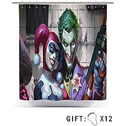 41YPBu7q1DL._AC_UL250_SR250,250_ Harley Quinn Shower Curtains