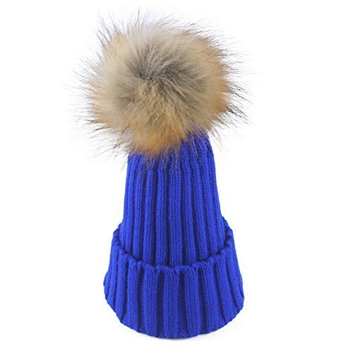 WGFGQX Sombrero De Punto Caliente De Las Señoras Al Aire Libre, Sombrero del Pompom,#1 #3