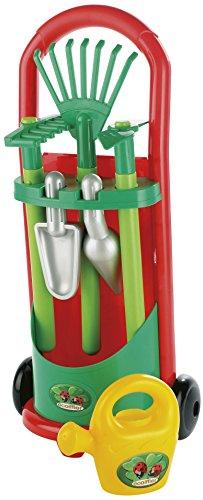 ECOIFFIER 00339 Kinder-Gärtner-Trolley, Gerätewagen mit Garten-Zubehör