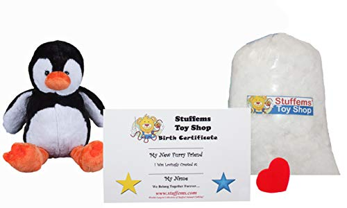 Make Your Own Stuffed Animal Mini 8 Inch Tux the Penguin Kit - No Sewing Required! -