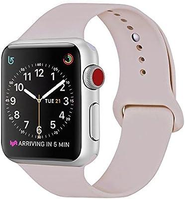ZRO Smart Watch Sport Band, Correa de reemplazo de silicona suave Correa Compatible con Watch Band 44MM 42MM 40MM 38MM Reloj Serie 4/3/2/1, S / MM / ...