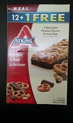Atkins Chocolate Peanut Butter Pretzel Bar 13 Ct