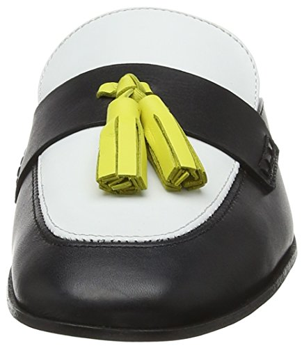Vit nero Mocassins Shoe Femme Multicolore bia W cuoi Pollini 00a YaxH7nXwH