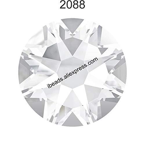 - Pukido (24Pcs) Original Crystals from Swarovski 2058 XILION 2088 XIRIUS Rose no hotfix Flat Back Rhinestone Strass for Nail Art Jewelry - (Color: Crystal 001 F, Item Diameter: SS9 (2.5-2.7mm))