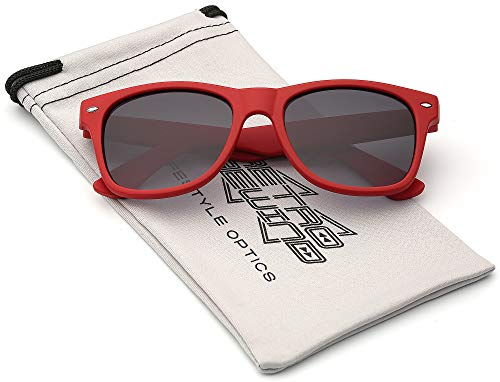 Kids Comfortable Classic Sunglasses for Boys and Girls | Toddler Preschool Grade School Children AGE 2-10 Years Recommended