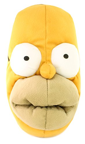 Neu Herren/Herren Homer Simpsons Neuheit Kopf Hausschuhe, Ideal Geschenkidee - Gelb/Multi - UK GRÖßEN 6-12