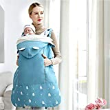Baby Autumn Winter Baby Carrier , Baby Supplies Waist Stool Strap Cloak Windproof Hood Baby Shawl Warm Sleeping Bag Carrier Cover Stroller Cover Packable Coat