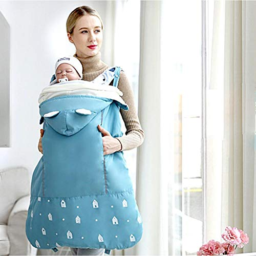 Baby Front Carrier Cover,Windproof/Waterproof Winter Universal Baby Sleeping Bag Wrap Blanket,Fleece Thickened Swaddle Infant/Toddlers Blanket