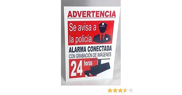 Marina Signboards Cartel Metal 30x20 cm Advertencia Alarma Conectada grabaci/ón de C/ámaras de V/ídeo 24 Horas