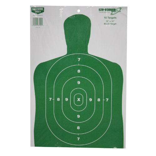 Birchwood 37204 Casey Eze-Scorer BC-27 Paper Targets (Green, 12x18-Inches), Pack of 10 (Bc27 Paper)