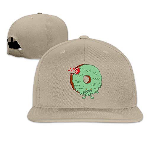 ONE-HEART HR Baseball Cap The Zombie Donut Adjustable Custom Flat Peaked Hat Unisex