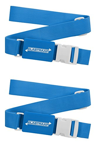 - Luggage Straps, Adjustable Non-Slip Baggage Belts - Suitcase Bands for your Travel Bag (2 Items/Blue)