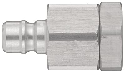 "Snap-Tite AVHN4-4F Aluminum H-Shape Quick-Disconnect Hose Coupling, Nipple, 1/4"" NPTF Female x 1/4"" Coupling Size"