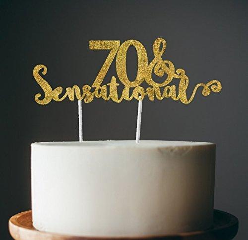 70th birthday cake topper - 70 & sensational cake topper ()