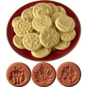 JBK Pottery Cookie Stamp 3-Piece Set, Nature