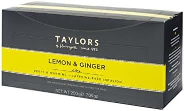 Taylors of Harrogate Lemon & Ginger Herbal Tea, 100 Count (Pack of 1)