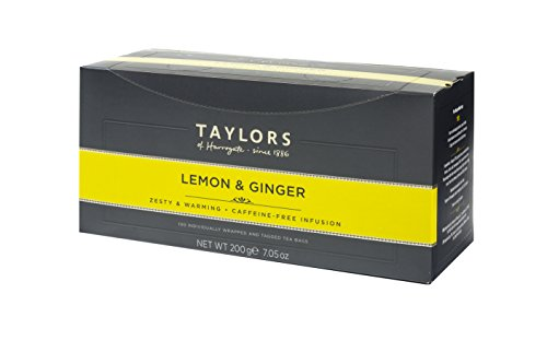 Taylors of Harrogate Lemon & Ginger Herbal Tea, 100 Teabags
