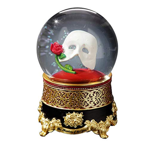 - The San Francisco Music Box Company Phantom of The Opera Classic Mask with Rose Water Globe