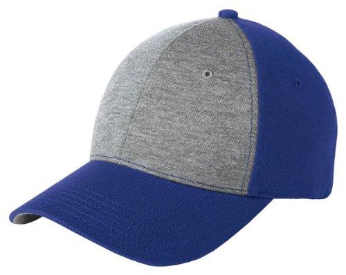 Sport-Tek STC18 Jersey Front Cap - Vintage Heather/ True Royal STC18 (Jersey Vintage Cap)