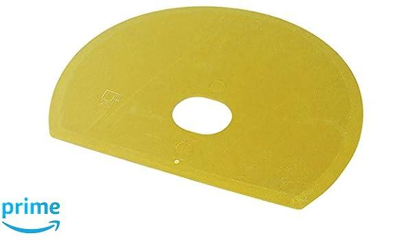 Maya 71915 - Espátula Flexible Redonda, Metal Detectable y Rayos X, con Agujero, 160 x 125 x 1,65 mm, Amarillo: Amazon.es: Industria, empresas y ciencia