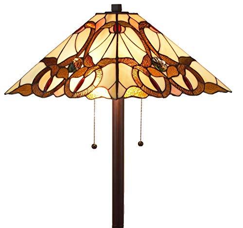 Amora Lighting AM343FL17 Tiffany Style Mission Floor Lamp, Multicolor